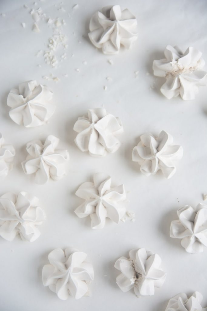 white flower petals on white surface
